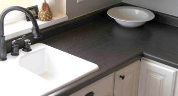 cheap countertop solution using concrete slab