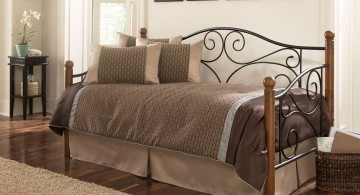 classic daybed images with iron flower pattern