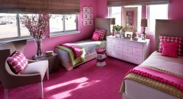 classy hot pink room