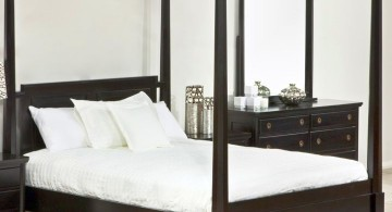 classy modern four poster bed