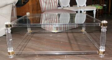 classy square lucite coffee table
