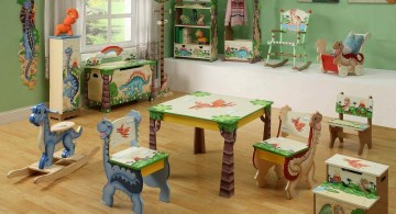 colorful and fun Dinosaur themed bedroom