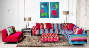 colorful mah jong sofa