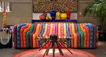 colorful retro modern decor