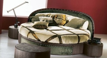 comfortable round bed frame
