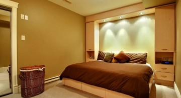 contemporary bedroom basement ideas