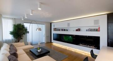 contemporary long living room