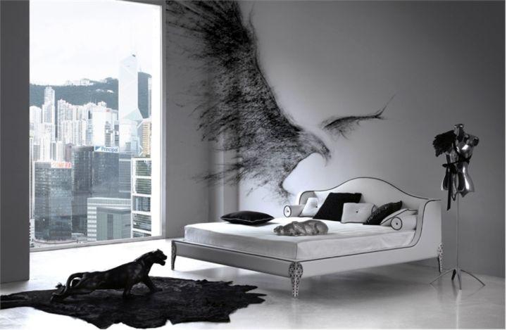 contemporary minimalist Gothic bedrooms