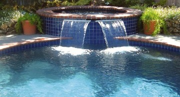 contemporary pools with waterfalls