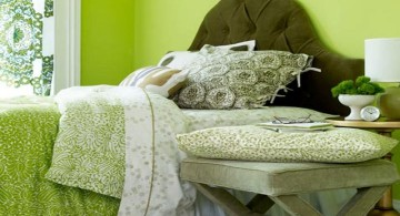 cozy lime green bedroom
