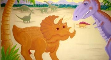 cute dinosaur wallpaper mural