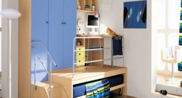 desk and bed combination with desk on top