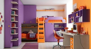 desk and bed combination with storage