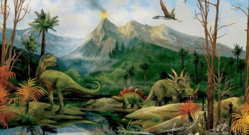 dinosaur wallpaper mural