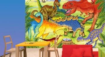 dinosaur wallpaper mural for small room