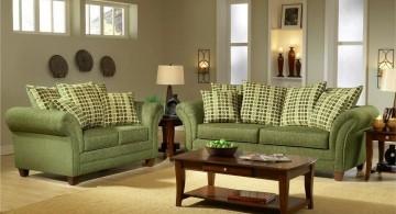 elegant Grey and Green living room furniture