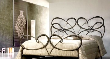 elegant beds with heart pattern