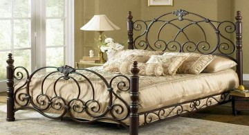elegant beds with iron bed frame