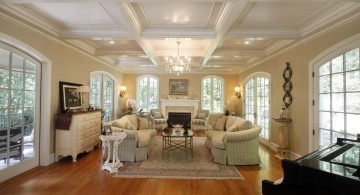 elegant coiffured beautiful ceilings