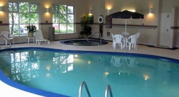 elegant enclosed swimming pool
