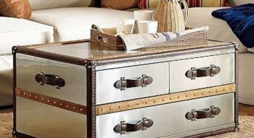 elegant in white trunk coffee table