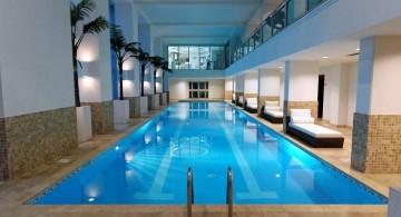 elegant indoor lap pool