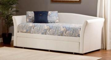 elegant unique trundle beds in white