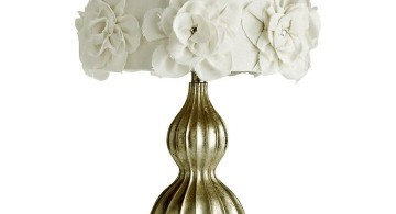 elegant with rosa chinesis pattern Rosette lamp shade