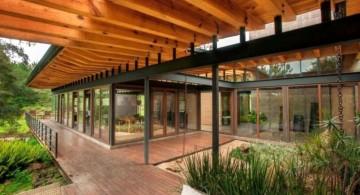 exposed beam ceiling for patio