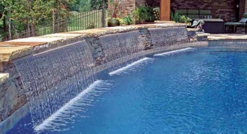 featured image of curtain styled pool waterfall ideas
