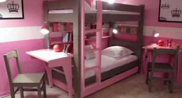 featured image of desk and bed combination in nice pink and brown room for teenage girl