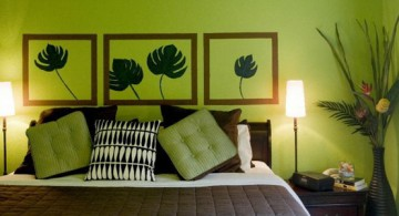 featured image of lime green bedroom decorated with matching wall paintings