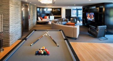 featured image of modern basement idea as a cozy hang out room full of entertainment