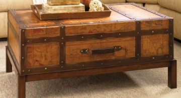 featured image of rustic trunk coffe table that looks like a treasure box