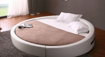 floating round bed frame