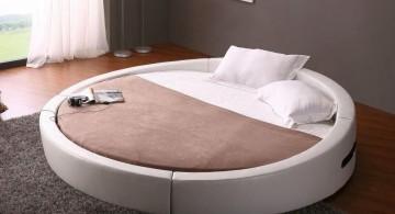 floating round bed frame