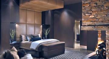 gas fireplace bedroom built in corner