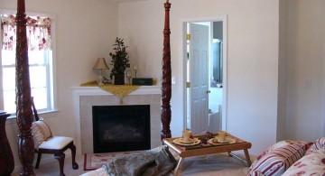 gas fireplace bedroom in corner