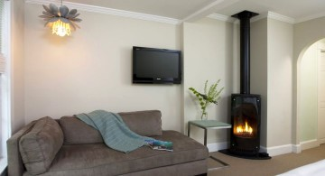 gas fireplace bedroom industrial