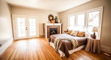 gas fireplace bedroom minimalist corner