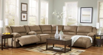 great room furniture layout L shaped sofa
