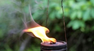 hanging cool tiki torches