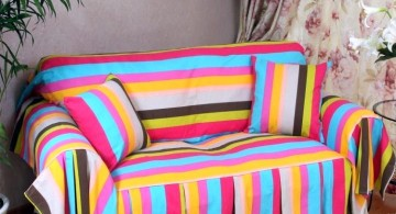 high end slipcover in rainbow color