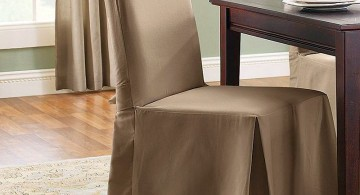 high end slipcover in silk