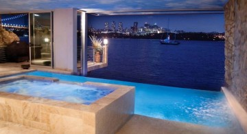 homes with indoor pools small with above ground jacuzzi