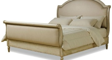 how to make a sleigh bed modern and white
