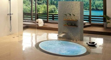 in ground unique tubs with small waterfall