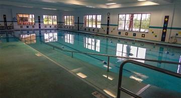 indoor lap pool in school