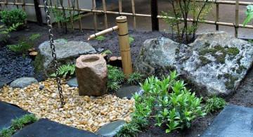 japanese garden designer bamboo fountain
