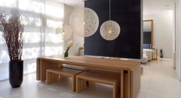 japanese theme room minimalist dining area